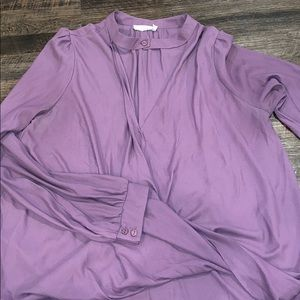 Lush crossover purple top size M with choker neck